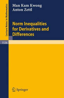 Norm Inequalities for Derivatives and Differences - Lecture Notes in Mathematics 1536 (Paperback)