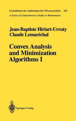 Convex Analysis and Minimization Algorithms I: Fundamentals - Grundlehren der mathematischen Wissenschaften 305 (Hardback)