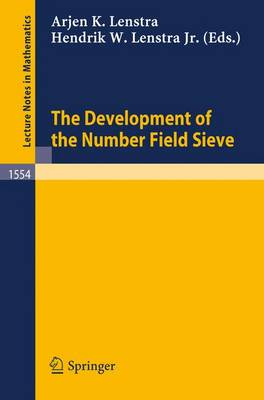 The Development of the Number Field Sieve - Lecture Notes in Mathematics 1554 (Paperback)
