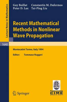 Recent Mathematical Methods in Nonlinear Wave Propagation: Lectures given at the 1st Session of the Centro Internazionale Matematico Estivo (C.I.M.E.), held in Montecatini Terme, Italy, May 23-31, 1994 - C.I.M.E. Foundation Subseries 1640 (Paperback)