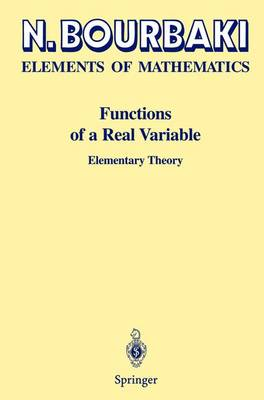 Functions of a Real Variable: Elementary Theory (Hardback)