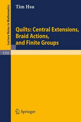 Quilts: Central Extensions, Braid Actions, and Finite Groups - Lecture Notes in Mathematics 1731 (Paperback)