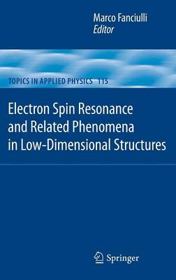 Electron Spin Resonance and Related Phenomena in Low-Dimensional Structures - Topics in Applied Physics 115 (Hardback)