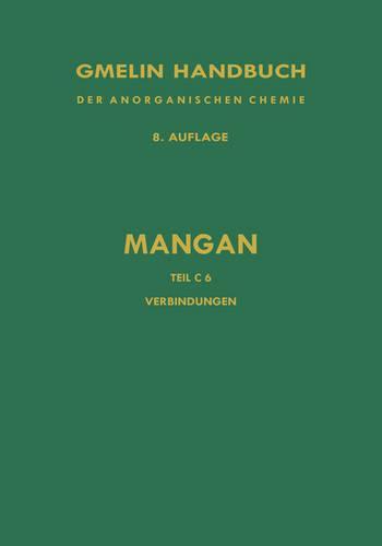 Verbindungen Des Mangans Mit Schwefel, Selen Und Tellur (Hardback)
