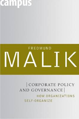 Corporate Policy and Governance: How Organizations Self-organize (Paperback)