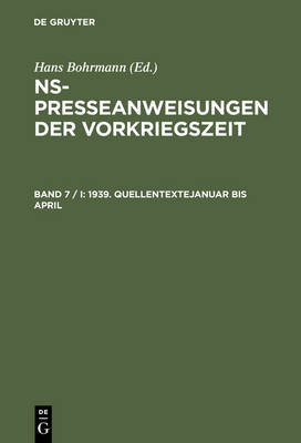 1939. Quellentexte Januar bis April. Quellentexte Mai bis August (Hardback)
