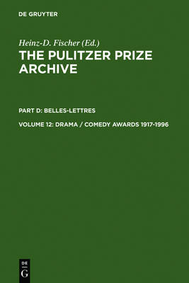 Drama / Comedy Awards 1917-1996 (Hardback)