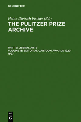 Editorial Cartoon Awards 1922-1997 (Hardback)