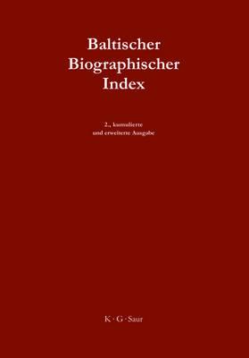 Baltischer Biographischer Index (Hardback)