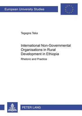 International Non-governmental Organisations in Rural Development in Ethiopia: Rhetoric and Practice - Europaische Hochschulschriften Reihe 31: Politikwissenschaft 418 (Hardback)