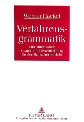 Verfahrensgrammatik: Eine Alternative Grammatikbeschreibung Fuer Den Sprachunterricht (Paperback)