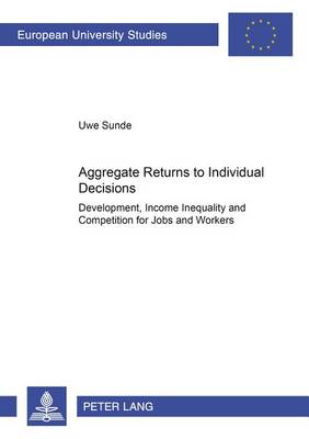 Aggregate Returns to Individual Decisions: Development, Income Inequality and Competition for Jobs and Workers - Europaische Hochschulschriften Reihe 5: Volks- und Betriebswirtschaft 3005 (Paperback)