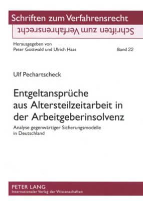 Entgeltansprueche Aus Altersteilzeitarbeit in Der Arbeitgeberinsolvenz: Analyse Gegenwaertiger Sicherungsmodelle in Deutschland - Schriften Zum Verfahrensrecht 22 (Paperback)
