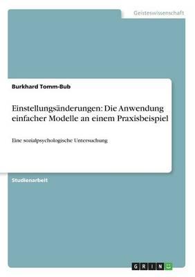 Einstellungsanderungen: Die Anwendung Einfacher Modelle an Einem Praxisbeispiel (Paperback)