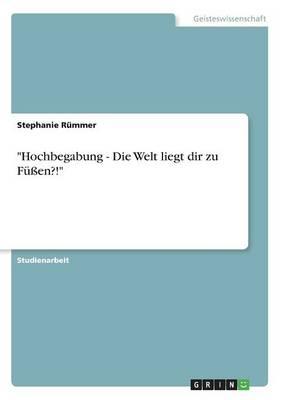 Hochbegabung - Die Welt Liegt Dir Zu Fuen?! (Paperback)
