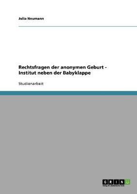Rechtsfragen Der Anonymen Geburt - Institut Neben Der Babyklappe (Paperback)