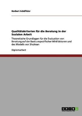 Qualitatskriterien Fur Die Beratung in Der Sozialen Arbeit (Paperback)
