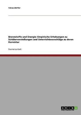 Brennstoffe Und Energie: Empirische Erhebungen Zu Schulervorstellungen Und Unterrichtsvorschlage Zu Deren Korrektur (Paperback)
