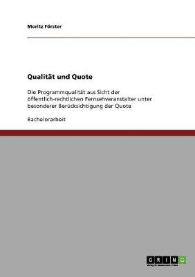 Qualit t Und Quote (Paperback)