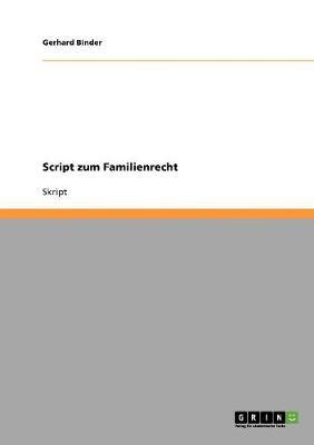 Script Zum Familienrecht (Paperback)