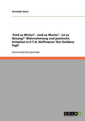 'Sind Es Blicke? - Sind Es Worte? - Ist Es Gesang?' Wahrnehmung Und Poetische Initiation in E.T.A. Hoffmanns 'Der Goldene Topf' (Paperback)