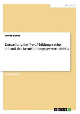 Darstellung Des Berufsbildungsrechts Anhand Des Berufsbildungsgesetzes (Bbig) (Paperback)