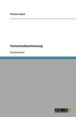 Textsortenbestimmung (Paperback)