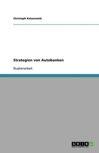 Strategien Von Autobanken (Paperback)