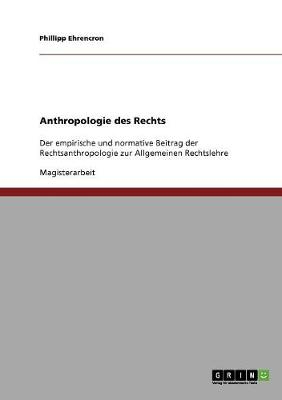 Anthropologie Des Rechts (Paperback)