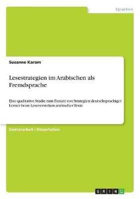 Lesestrategien Im Arabischen ALS Fremdsprache (Paperback)