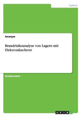 Brandrisikoanalyse Von Lagern Mit Elektronikschrott (Paperback)