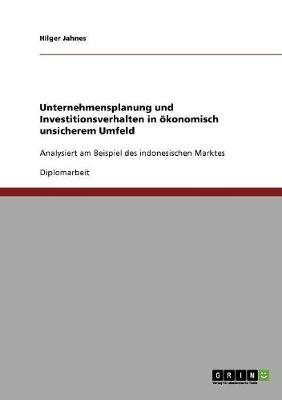 Unternehmensplanung Und Investitionsverhalten in oeKonomisch Unsicherem Umfeld (Paperback)