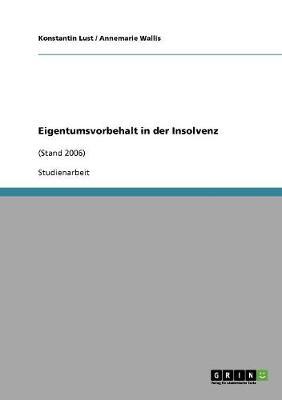 Eigentumsvorbehalt in Der Insolvenz (Paperback)