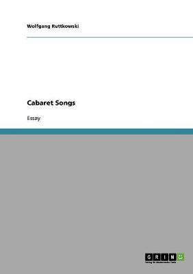 Cabaret Songs (Paperback)