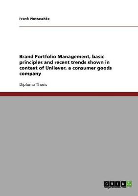 Brand Portfolio Management. Basic Principles and Recent Trends (Paperback)