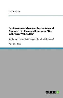 """Das Zusammenleben Von Sesshaften Und Zigeunern in Clemens Brentanos """"Die Mehreren Wehmuller"""" (Paperback)"""