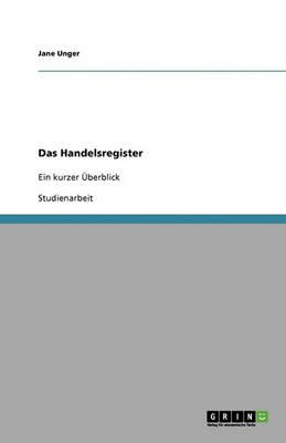 Das Handelsregister (Paperback)