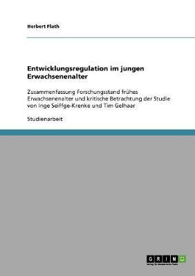 Entwicklungsregulation Im Jungen Erwachsenenalter (Paperback)