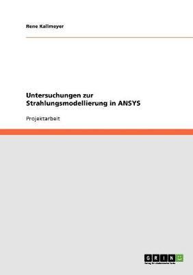 Untersuchungen Zur Strahlungsmodellierung in Ansys (Paperback)