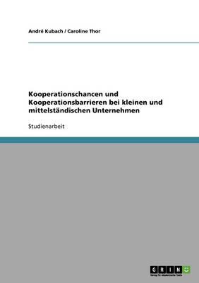 Kooperationschancen Und Kooperationsbarrieren Bei Kleinen Und Mittelst Ndischen Unternehmen (Paperback)