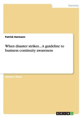When Disaster Strikes... a Guideline to Business Continuity Awareness (Paperback)