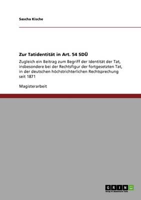 Zur Tatidentit t in Art. 54 Sd (Paperback)