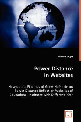 Power Distance in Websites (Paperback)