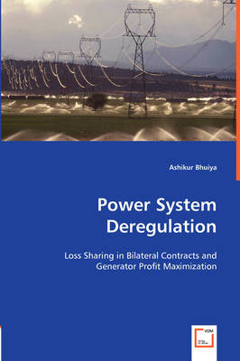 Power System Deregulation: Loss Sharing in Bilateral Contracts and Genterator Profit Maximization (Paperback)