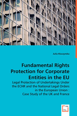Fundamental Rights Protection for Corporate Entities in the Eu (Paperback)