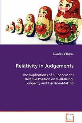 Relativity in Judgements (Paperback)