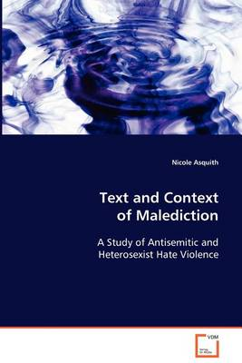 Text and Context of Malediction (Paperback)