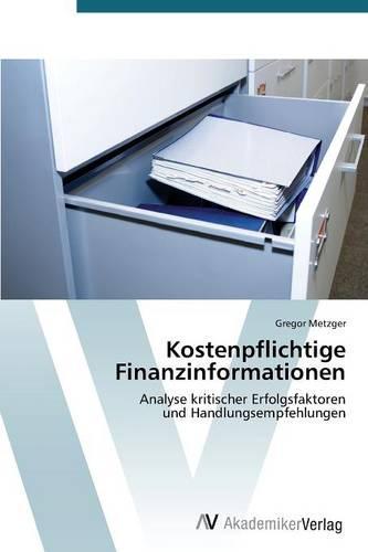 Kostenpflichtige Finanzinformationen (Paperback)