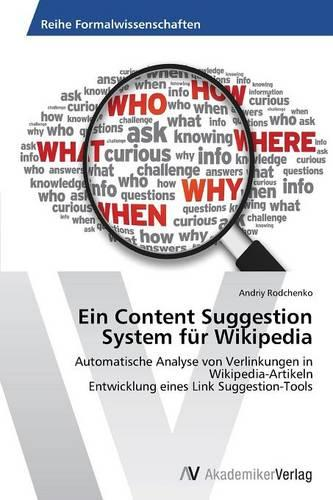 Ein Content Suggestion System Fur Wikipedia (Paperback)