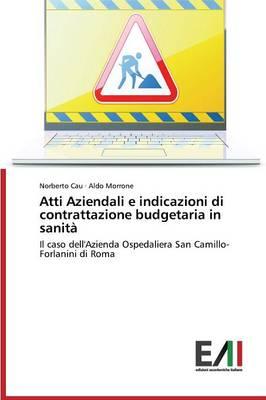 Atti Aziendali E Indicazioni Di Contrattazione Budgetaria in Sanita (Paperback)